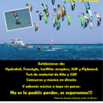 Cartel para el evento de Kitesurf en Dénia