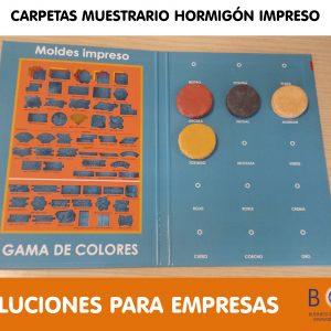 CARPETAS MUESTRARIO HORMIGÓN IMPRESO